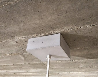 Square Concrete Ceiling Cup - Concrete Ceiling Rose , for pendant light
