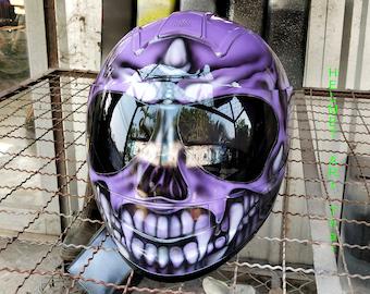 Custom Airbrushed Motorcycle Helmet