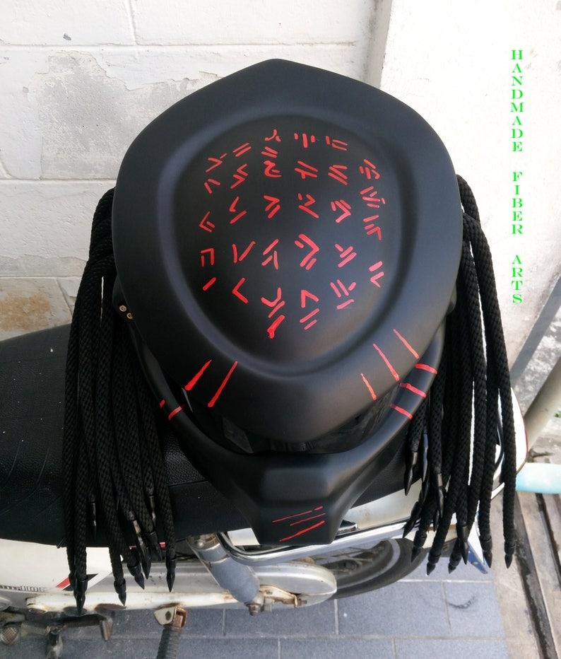 Black Custom Predator Full Face Motorcycle Helmet