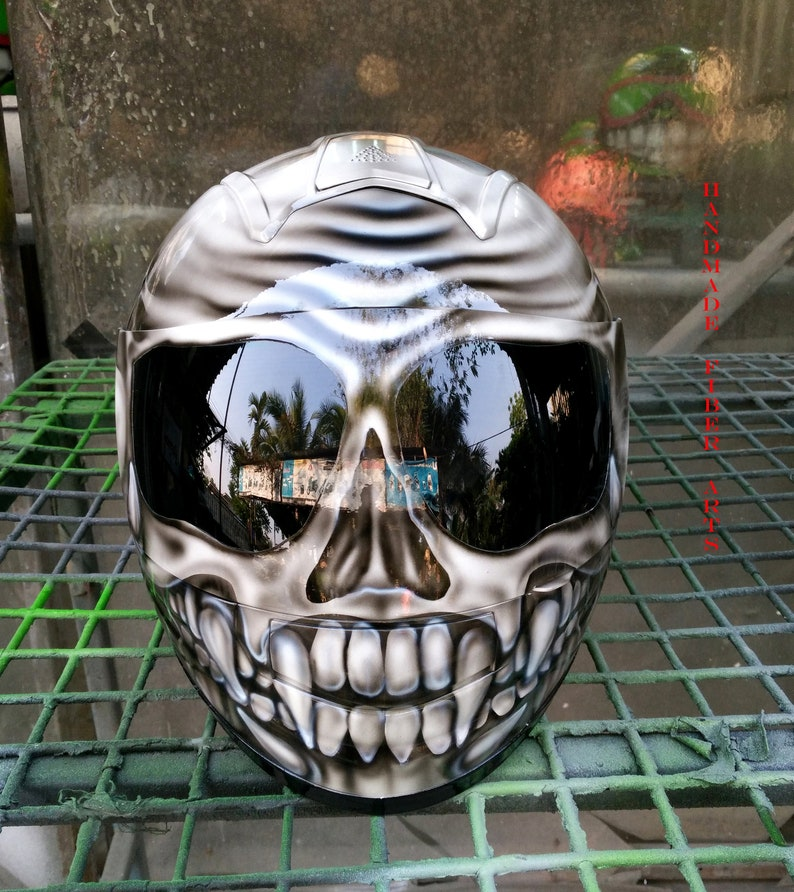 Custom Airbrushed Painted Full Face Motorcycle Helmet Etsy