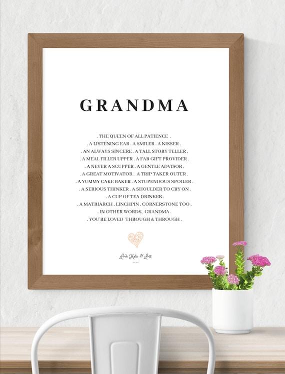 Oma Druck Oma Gedicht Großmutter Gedicht Oma Geschenk Etsy