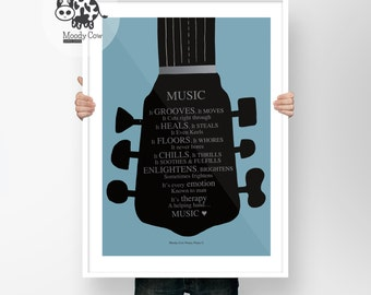 Music Prints | Music Art | Music Lover Gift | Music Lover | Literary Gift| Music Wall Art | Fathers Day | Wall Art| Christmas Gift