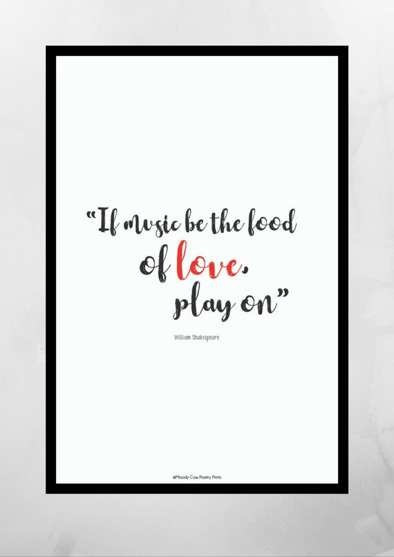 Shakespeare Quote Love Quote Valentine Gifts Famous Etsy