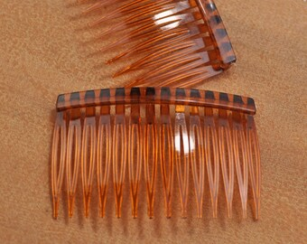 Bridal Accessory DIY 12 Clear Plastic Hair Combs Simple and Ready to Decorate