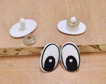 60x Oval Plastic Safety Eyes Toys for DIY Teddy Bear Doll Toys Animal Making