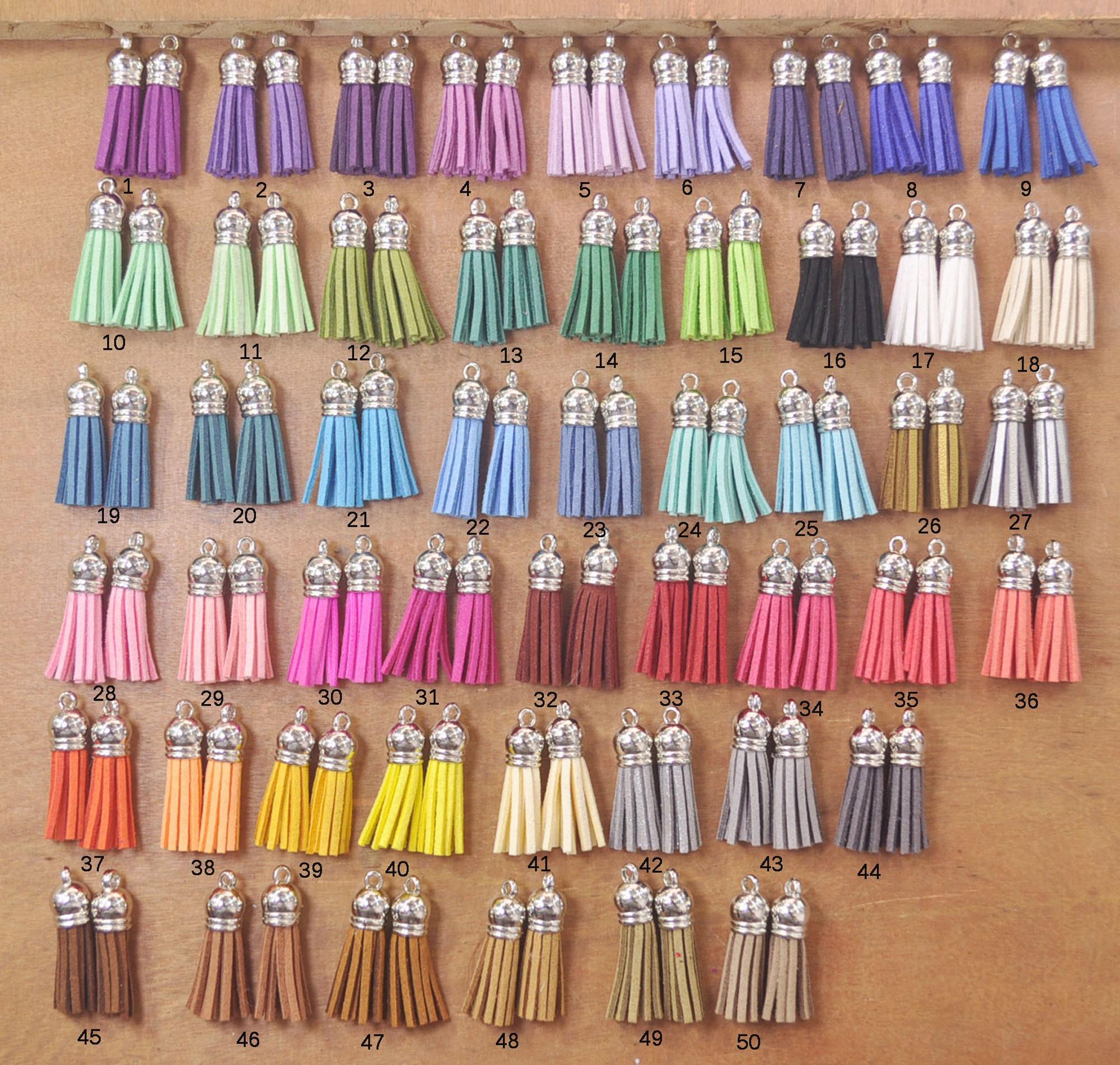 1.5/'/' Jade suede tassels 50 tassles faux leather tassels mini tassels