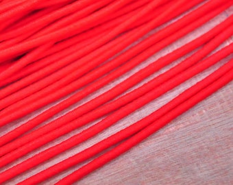 Red Elastic Cord,2.5mm Red Elastic Cord trim,stretchy rope,elastic strings,Nylon Exterior Rubber Interior--5yards/10yards/50yards