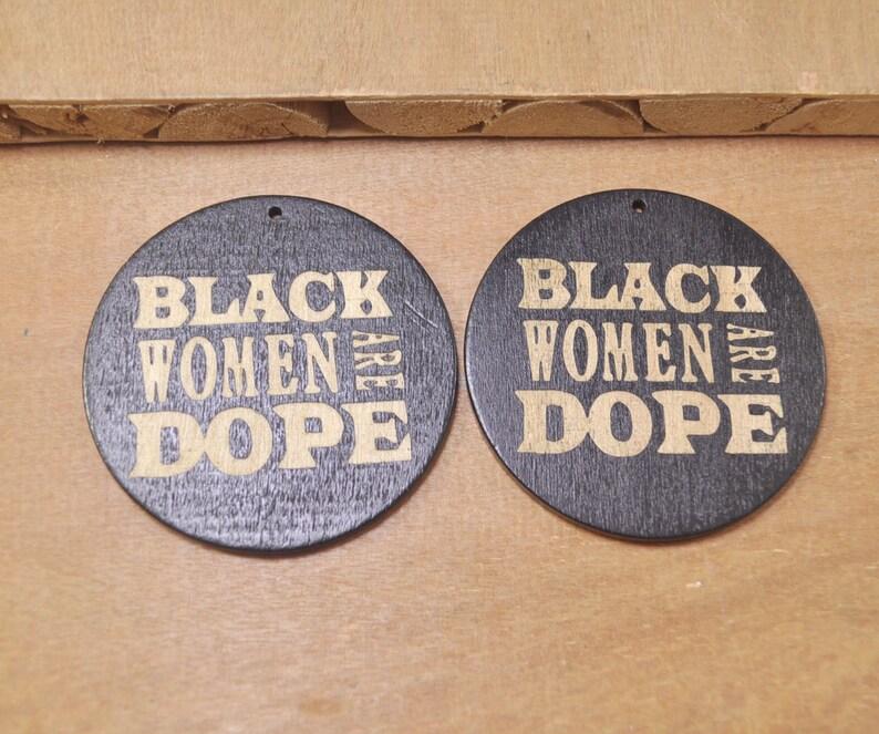 6pcs Flat Round Wooden Earrings Pendant Black Womenearring Jewelry Laser Engraving Earring Diy Wood Earrings Ethnic
