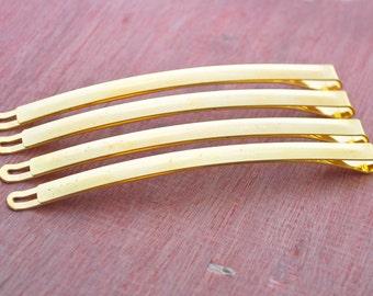 50PCS Gold tone long PARIS metal bobby pins (extra long),Hair clip,hair pin,gold plated clip,gold bobby pin--88x5mm.