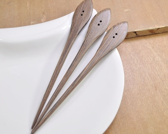 5pcs wood hair stick,coffee wood hair fork Handmade,DIY,wooden hair pin,162mm