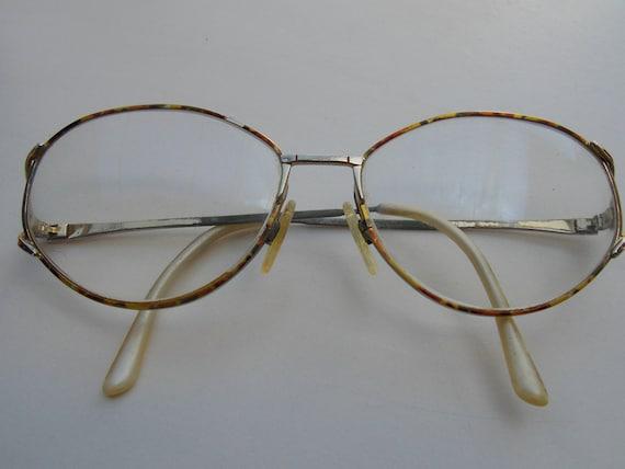 Gold frame, brown frame glasses, retro glasses, vi