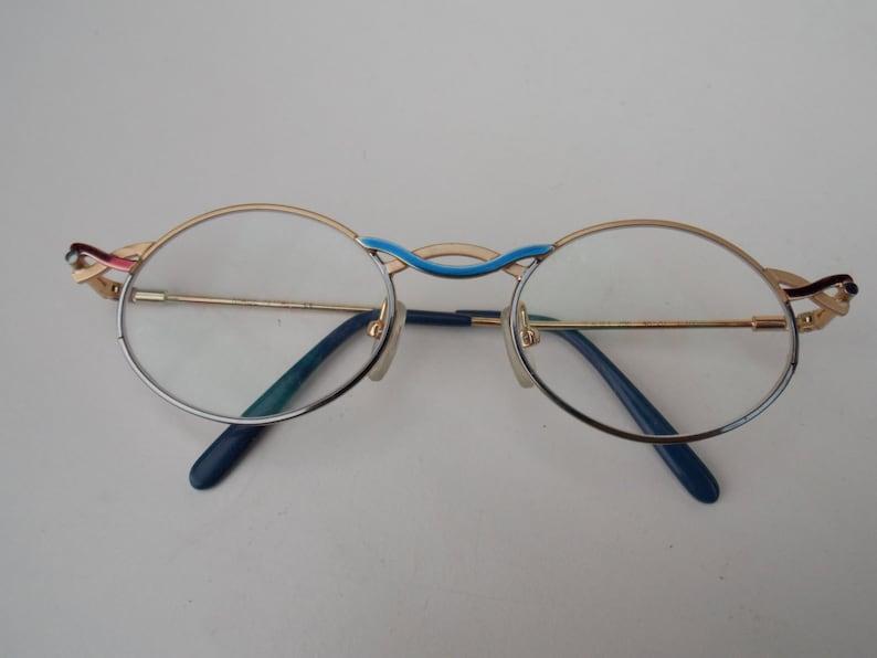 fbc52c942 Round Goldblue Style Clear Lens Glasses Vintage Glasses | Etsy