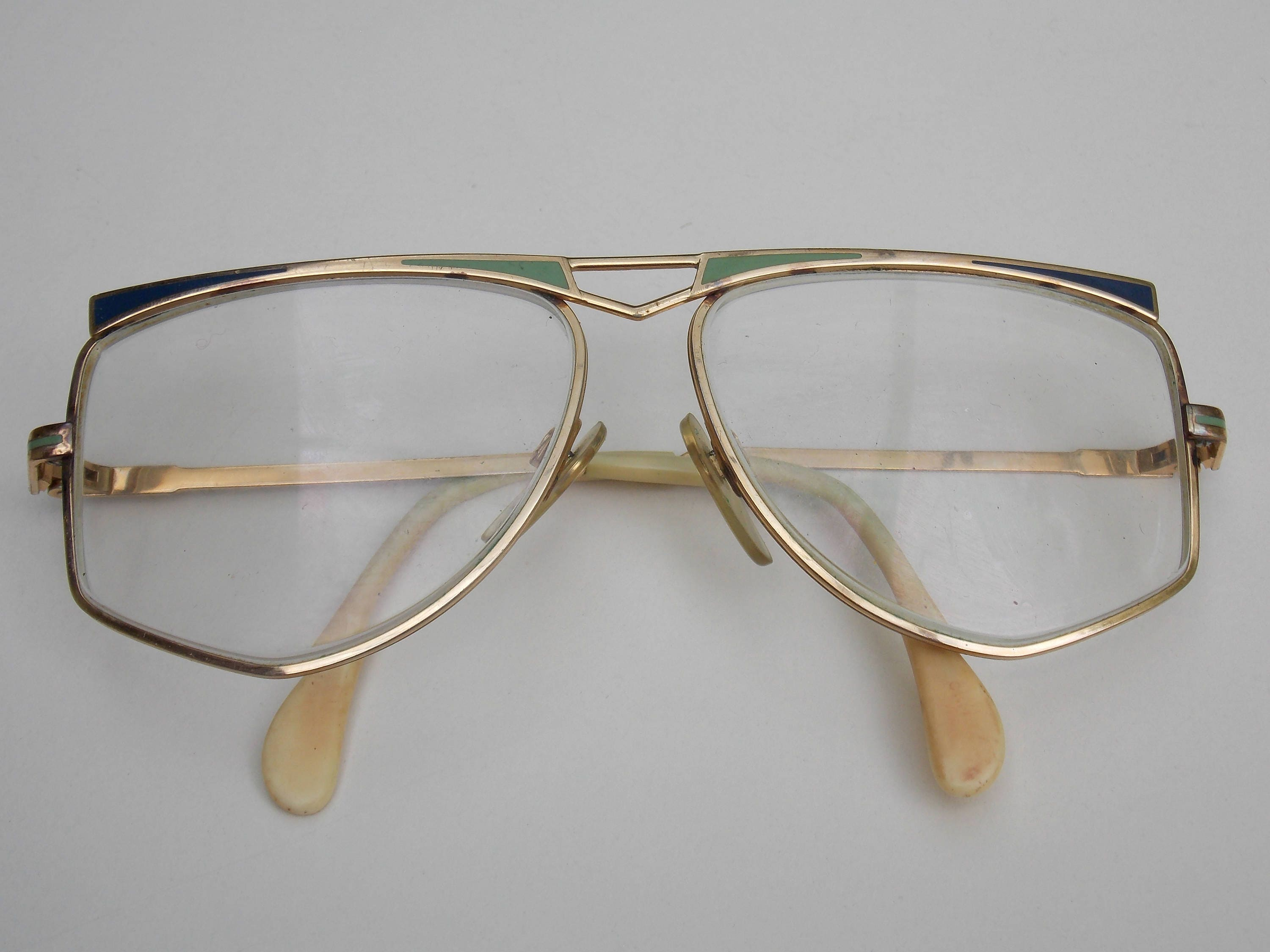 dd00fc21b5 Cool retro glasses gold frame clear lens large lens metal