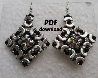 PDF tutorial,PDF pattern, Arcos tutorial, Arcos pattern, diamonduo pattern, diamonduo tutorial, beading pattern, beading tutorials
