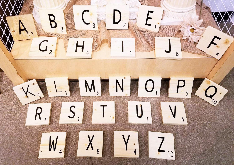 Large Scrabble Tiles Jumbo Scrabble Tiles Large Etsy