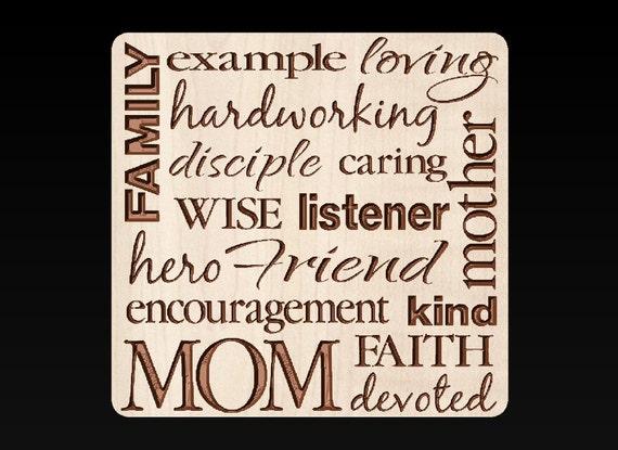 Mom Collage Plaque Picture Art Moms