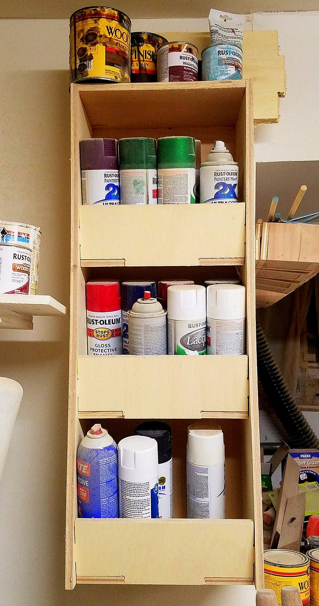Spray Paint Storage Rattlecan Storage Garage Storage Solution Paint Cans Spray Paint Storage Solutions Garage Storage Hanging Storage