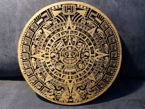 aztec calendar aztec indian wooden wall wooden