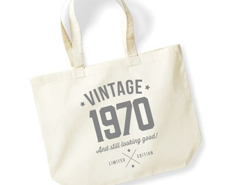 55th Birthday Gifts Present Year 1964 Shopping Shopper Keepsake Womens Tote Bag