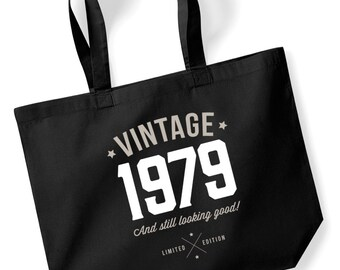 40th Birthday Idea Bag Tote Shopping Great Present Gift 1979