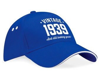 80th Birthday 1939 Baseball Cap Gift Keepsake Idea 80 Years Old