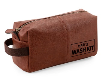 6b13965757b Dad Wash Bag Gift, Present For Best Dad, For Birthday, Christmas, Father's  Day, Fantastic Quality Usable Dopp Kit Keepsake