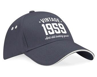 60th Birthday 1959 Baseball Cap Gift Keepsake Idea 60 Years Old
