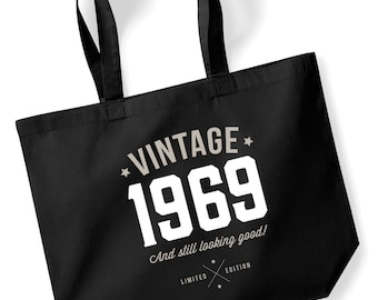 50th Birthday Idea Bag Tote Shopping Great Present Gift 1969