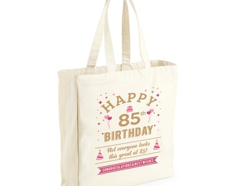 85th Birthday Gift Tote Shopping Bag Limited Edition 1934 Matured To Perfection