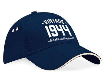 75th Birthday 1944 Baseball Cap Gift Keepsake Idea 75 Years Old