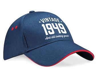 70th Birthday 1949 Baseball Cap Gift Keepsake Idea 70 Years Old