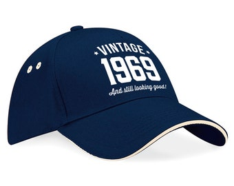 50th Birthday 1969 Baseball Cap Gift Keepsake Idea 50 Years Old