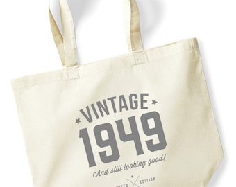 70th Birthday Idea Bag Tote Shopping Great Present Gift 1949