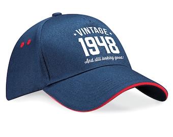70th Birthday 1948 Baseball Cap Gift Keepsake Idea 70 Years Old