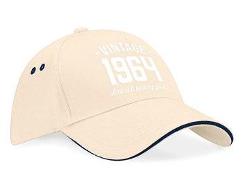 55th Birthday 1964 Baseball Cap Gift Keepsake Idea 55 Years Old