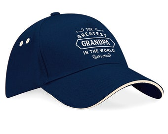 Greatest Grandpa Gift Hat To Be Birthday For Best Awesome