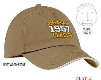 60th Birthday, 1957 Birthday, 60th Birthday Gift, American Classic Embroidered Hat, 60th Birthday Idea, 60 Years Old, 60 Birthday Gift
