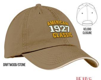 90th Birthday, 1927 Birthday, 90th Birthday Gift, American Classic Embroidered Hat, 90th Birthday Idea, 90 Years Old, 90 Birthday Gift