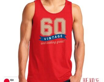 60th Birthday, 1956 Birthday, 60th Birthday Gift, Men's Tank Top, 60th Birthday Idea, 60th Birthday Party, For Fashion Conscious 60 Year Old