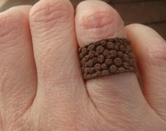 Leather Ring - Boho Ring - Custom Leather Ring - Boho Leather Ring - Leather Band - Minimalist Jewelry - Unisex