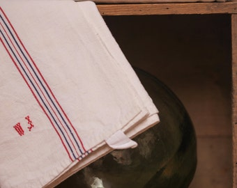 French Antique  Kitchen Towel - Early 20th century (Pack of six)