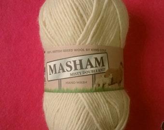 100% British Breed Wool Yarn, Misty DK (1282) Natural, Cream 50g