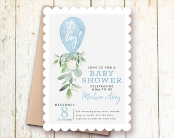Baby boy shower invitation  d441752732