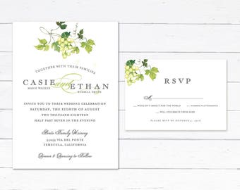 Winery Wedding Invitations Etsy