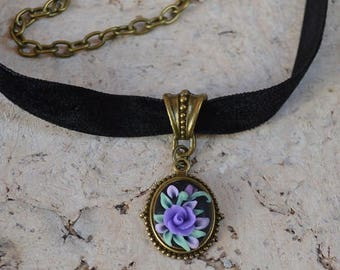 purple choker for girl,  friendship necklaces for women, romantic gift women jewelry everyday necklace gifts for girlfriend