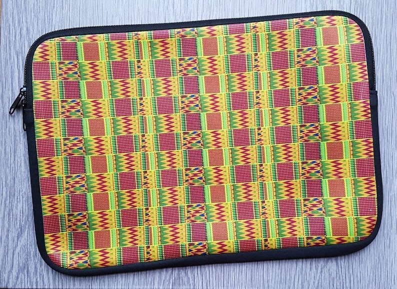 AFROOPRINTS. Computer printed African Kente XXXVII pouch image 0
