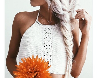 "SALE!!! Bohemian crochet halter ""kaya""100% cotton"
