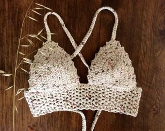 "Midi Crochet cross back ""Athena"" - cotton bohochic"