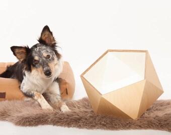 Wooden Dog Toy Storage Box - Snow White