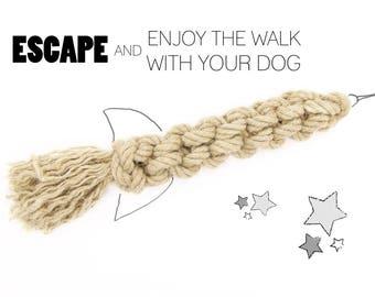 Hemp Rope Dog Toy *The Rocket* - Handmade Organic Dog Toy